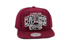 BLACK AND WHITE ARCH SNAPBACK CLEVELAND CAVALIERS