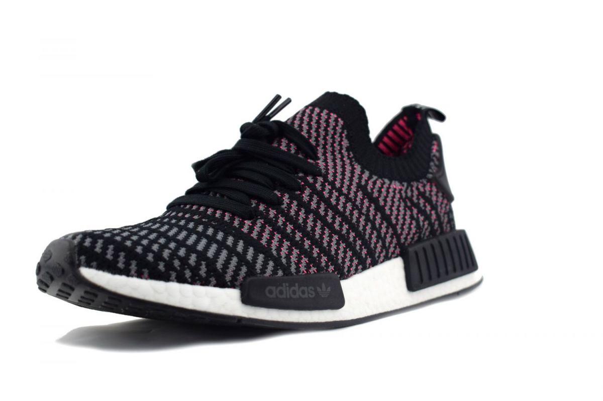 Adidas NMD R1 STLT PK CQ2386 grau//pink Primeknit Männer Schuhe